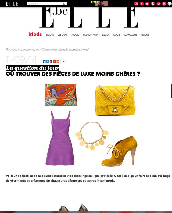 The Chic Selection Press on Elle