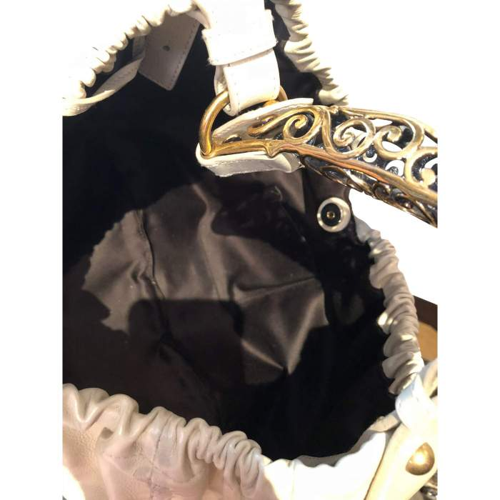 Beige leather Bag-8
