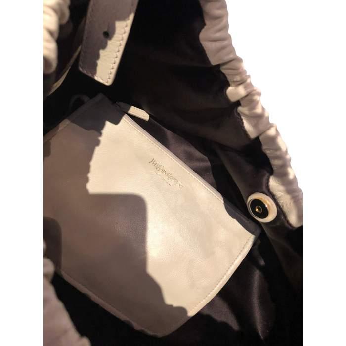 Beige leather Bag-10