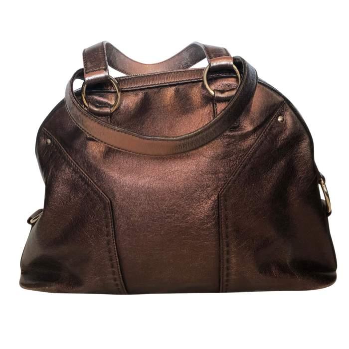 Large bronze shiny leather Bag-2
