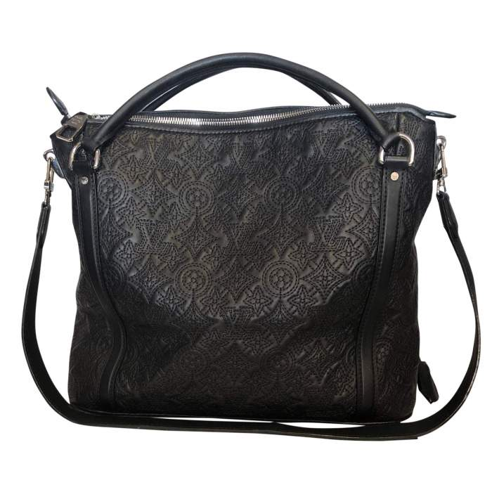 Monogram embroidered leather Bag-2