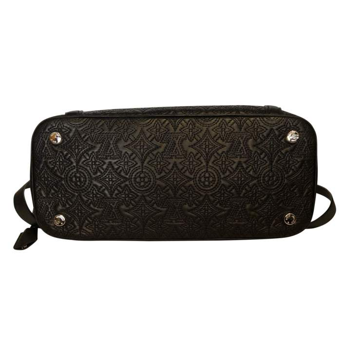 Monogram embroidered leather Bag-4