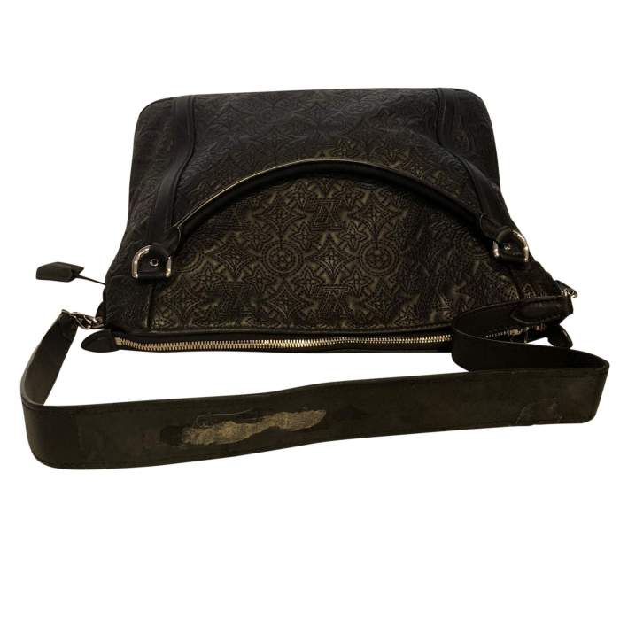 Monogram embroidered leather Bag-6