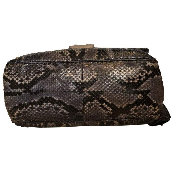 Black and gray python Bag-6