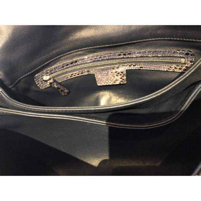 Black and gray python Bag-8