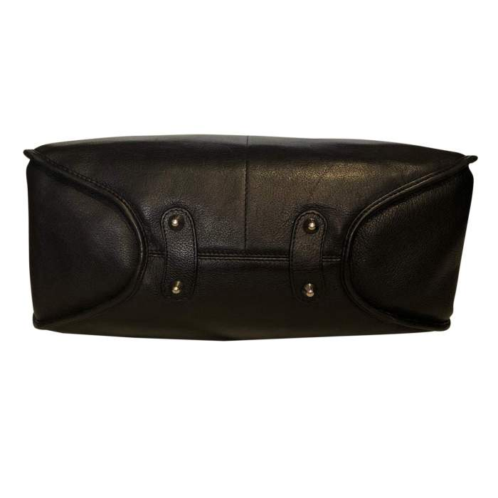 Black grained leather Bag-6