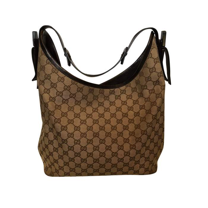 Canvas monogram leather Bag-2
