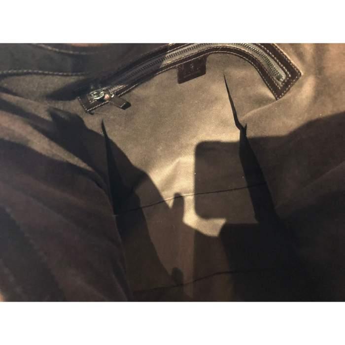 Canvas monogram leather Bag-8
