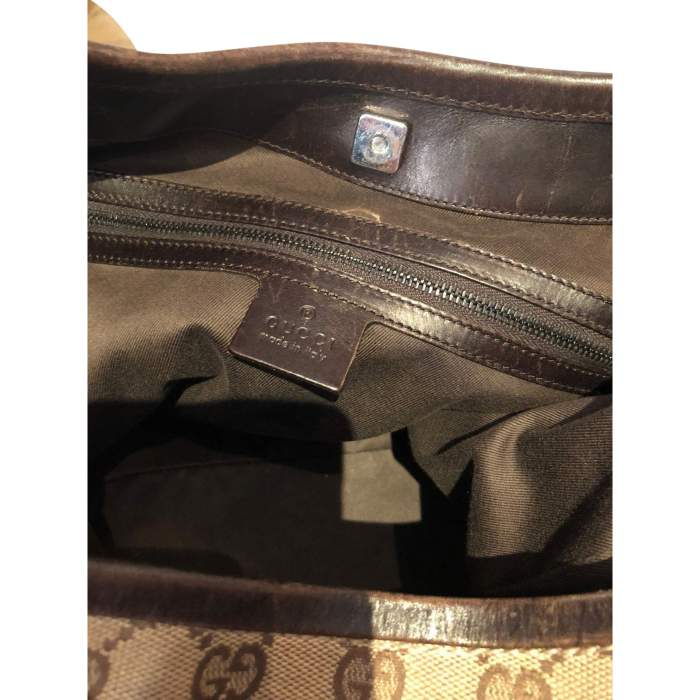 Canvas monogram leather Bag-10