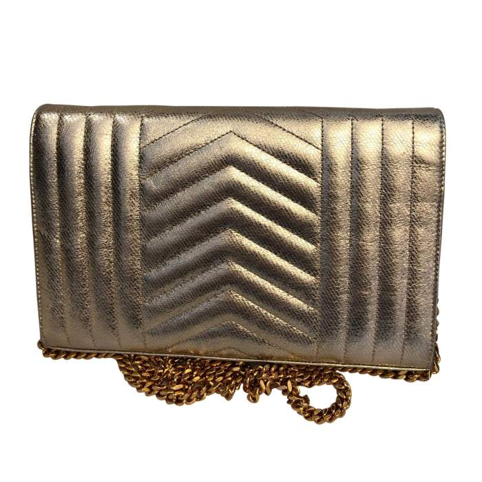 Golden small leather Bag-2