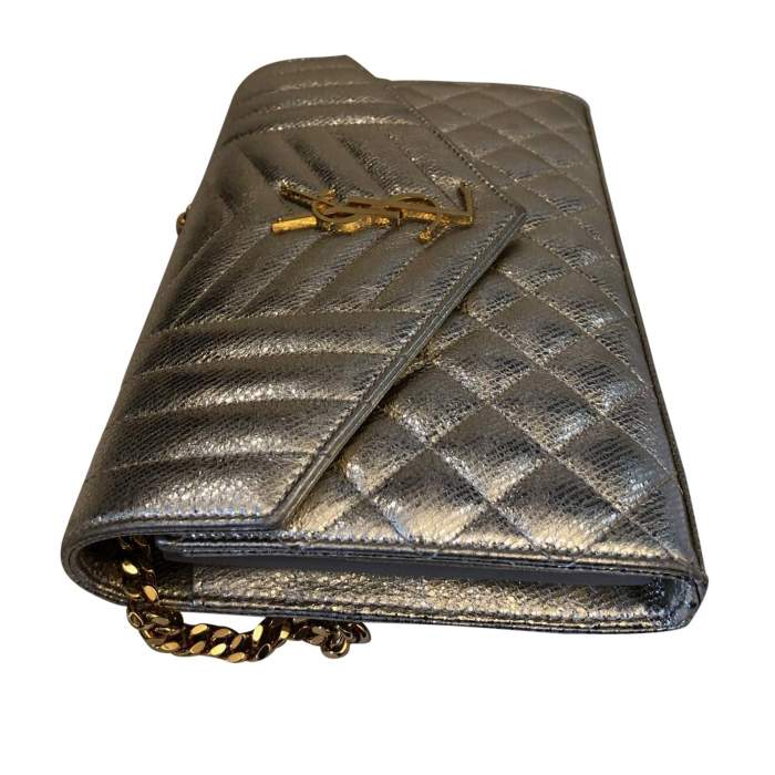 Golden small leather Bag-4