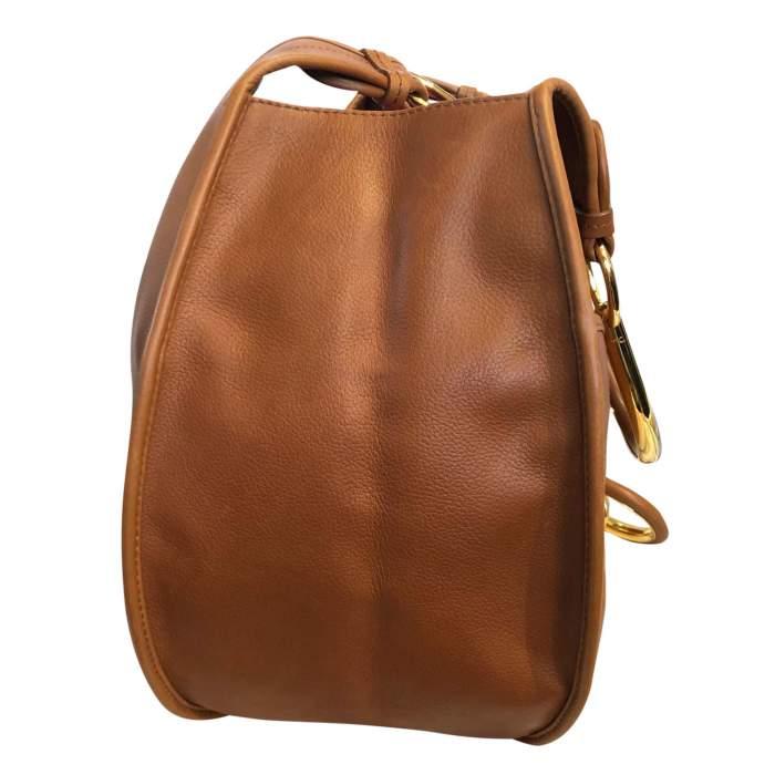 Large gold leather Bag -4