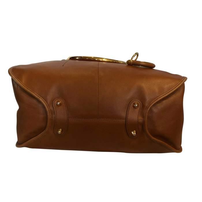 Large gold leather Bag -8