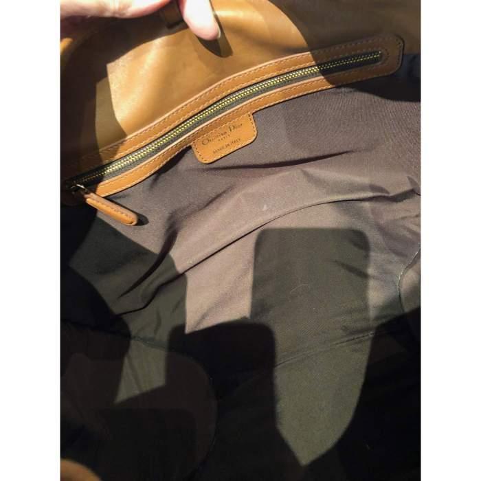 Large gold leather Bag -10