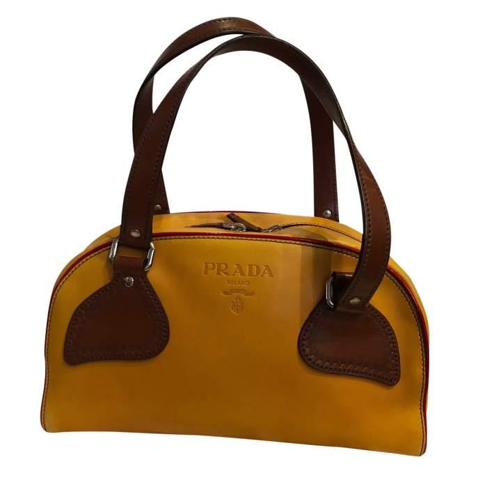 Mustard leather Bag-0