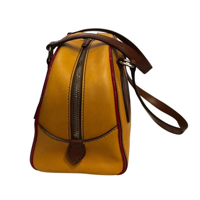 Mustard leather Bag-4