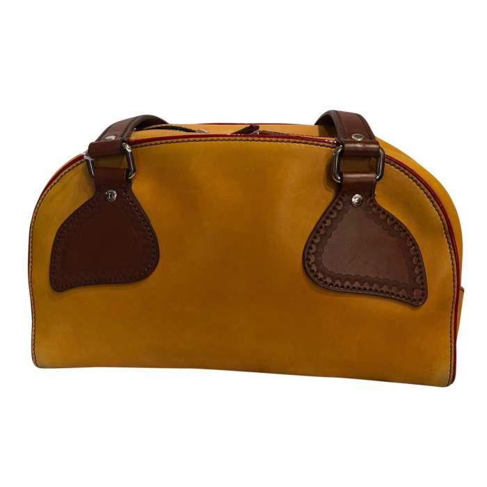 Mustard leather Bag-2