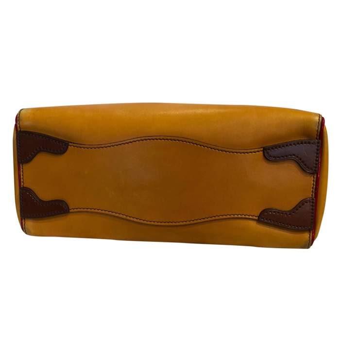 Mustard leather Bag-8