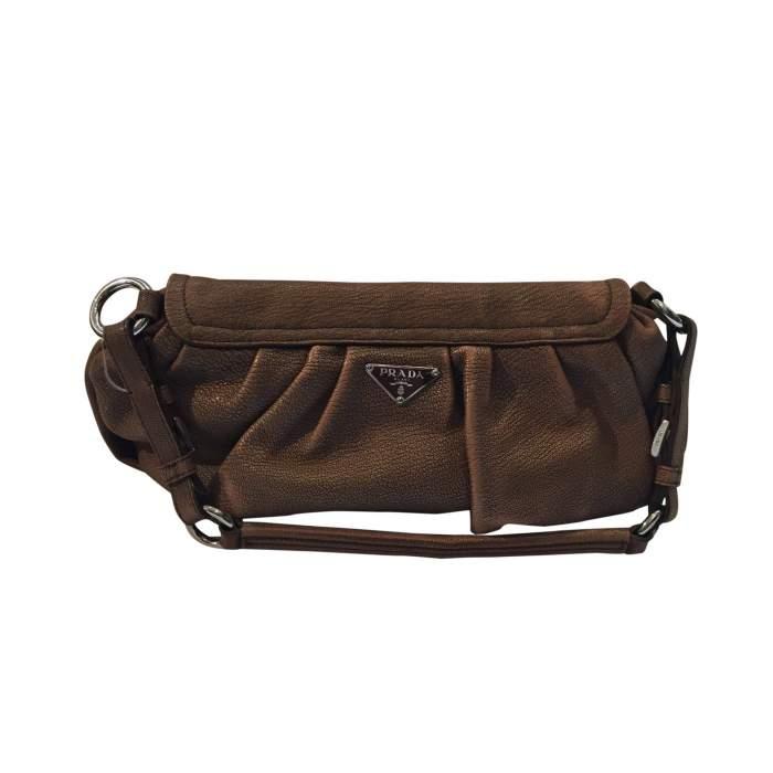 Pink/beige leather Handbag-2