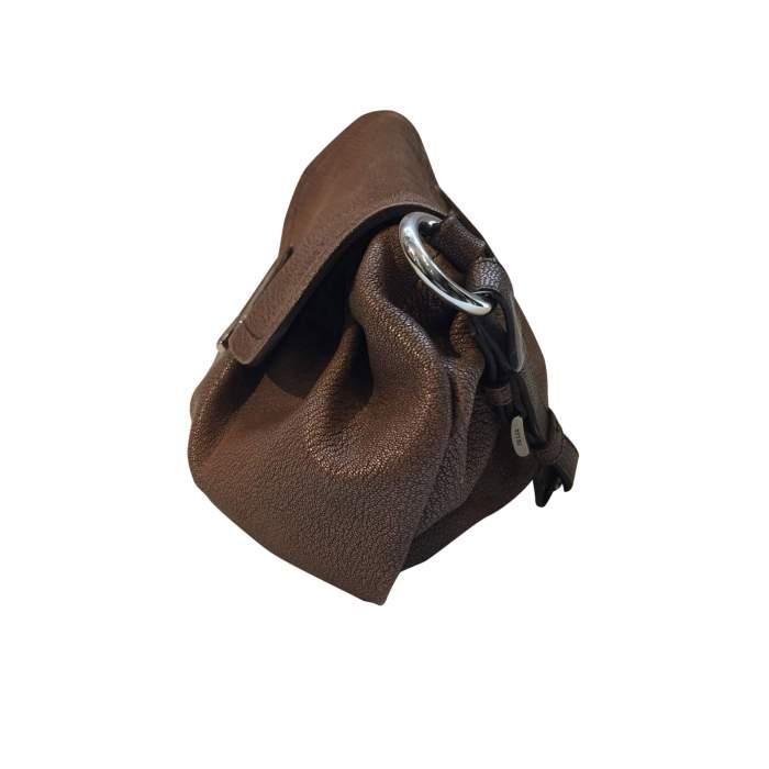 Pink/beige leather Handbag-4