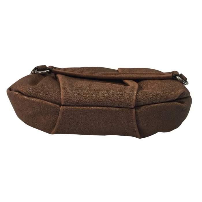 Pink/beige leather Handbag-8