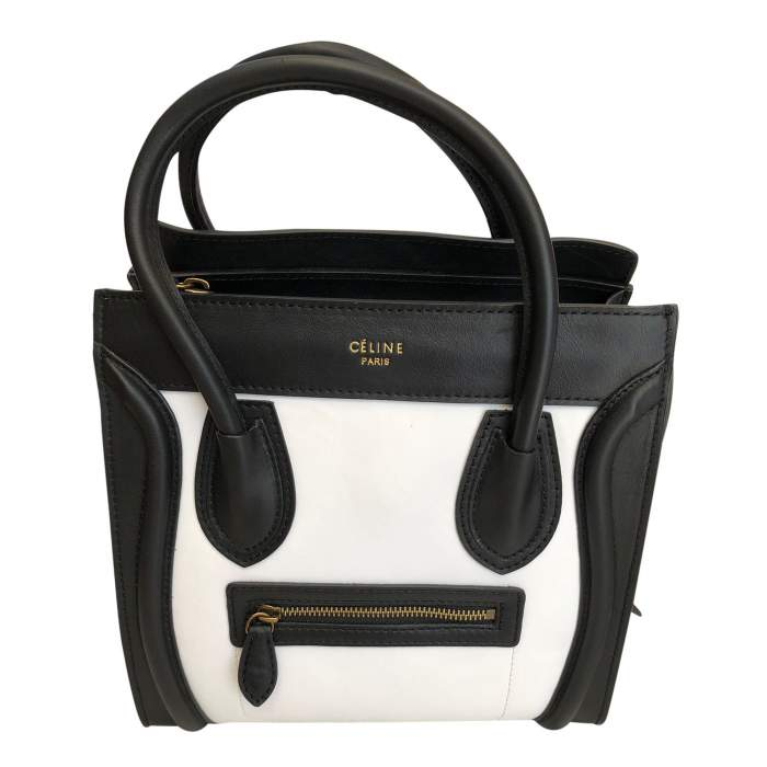 Two-tone leather Bag -0