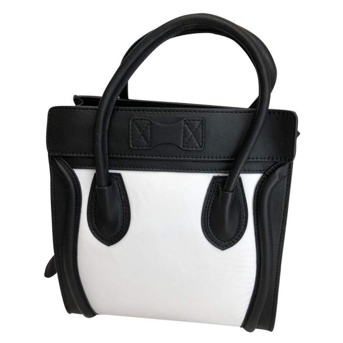 Two-tone leather Bag -4