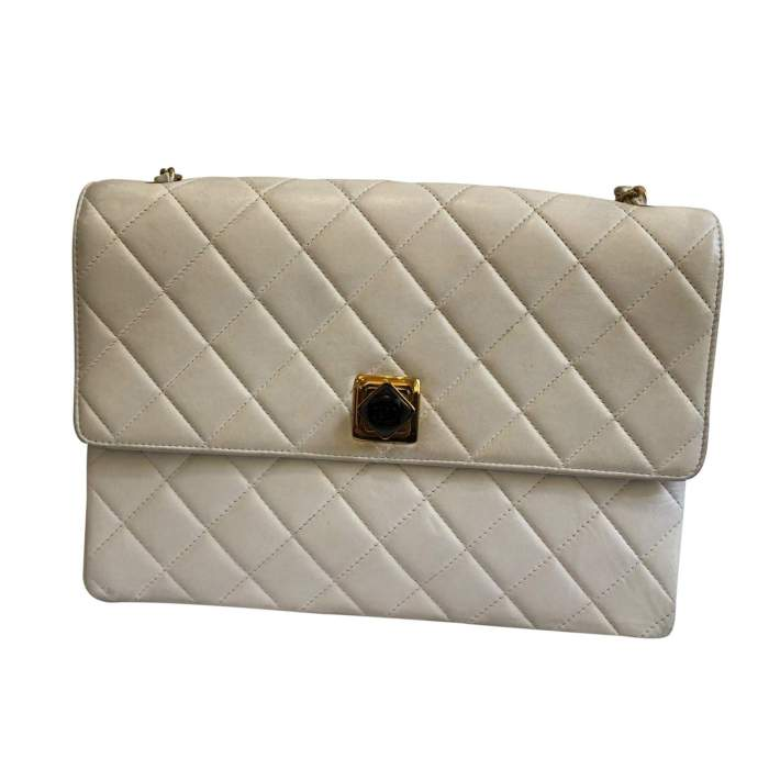 White leather Bag -0