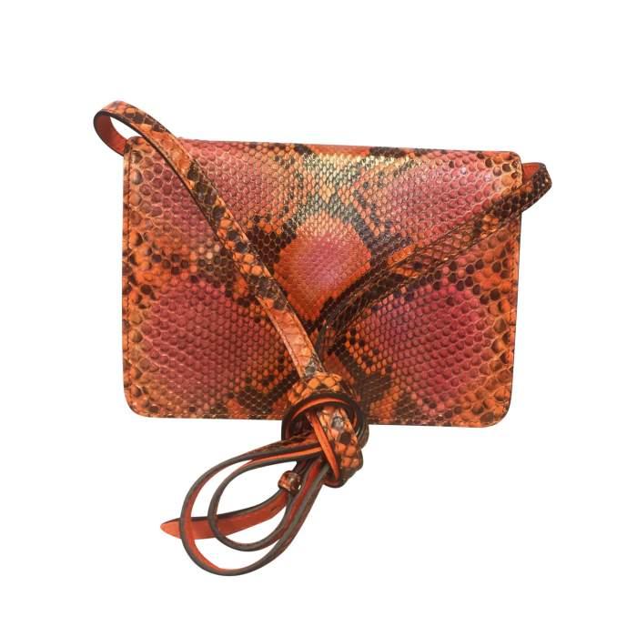Orange python shoulder Bag-2