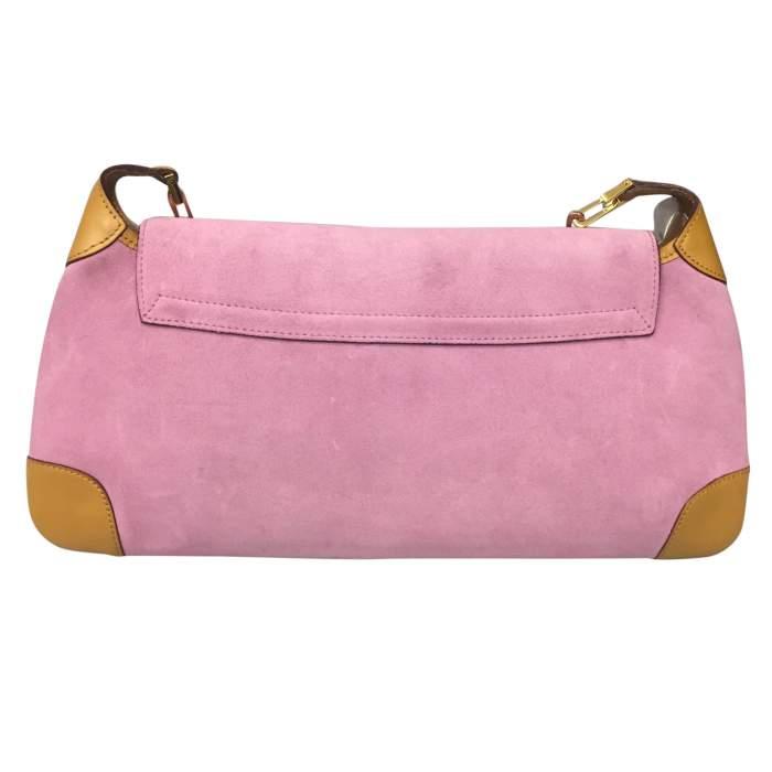 Pink suede shoulder Bag-2