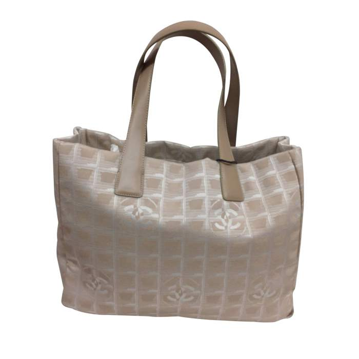 Beige canvas tote Bag-2
