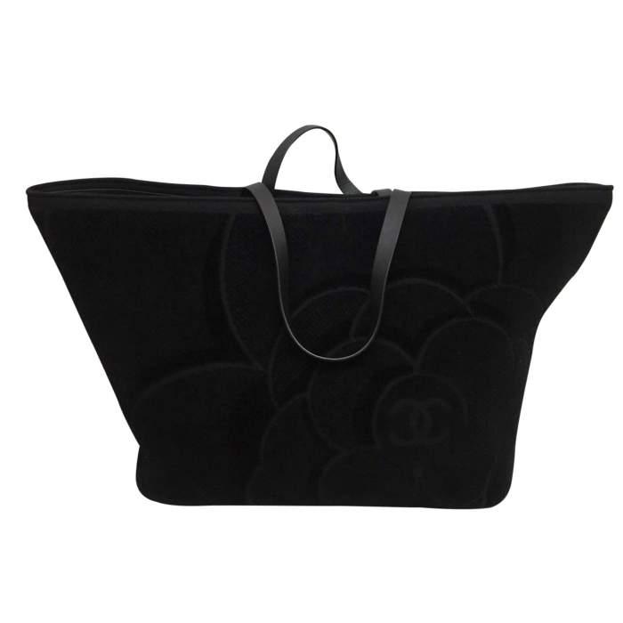 Black leather tote Bag-2