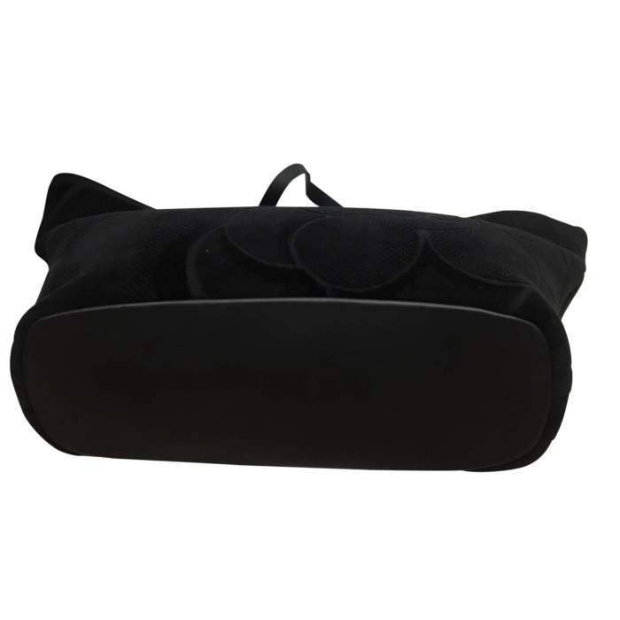 Black leather tote Bag-6