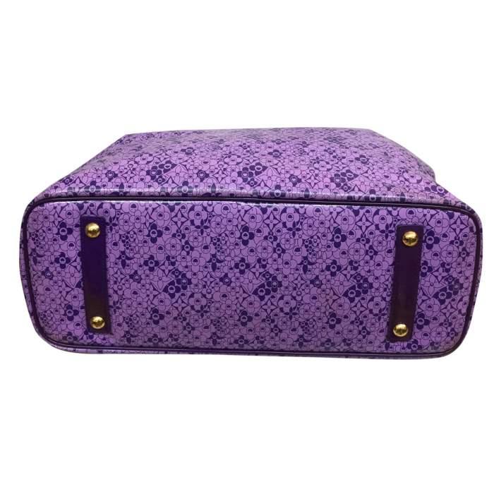 Large purple tote Bag-6