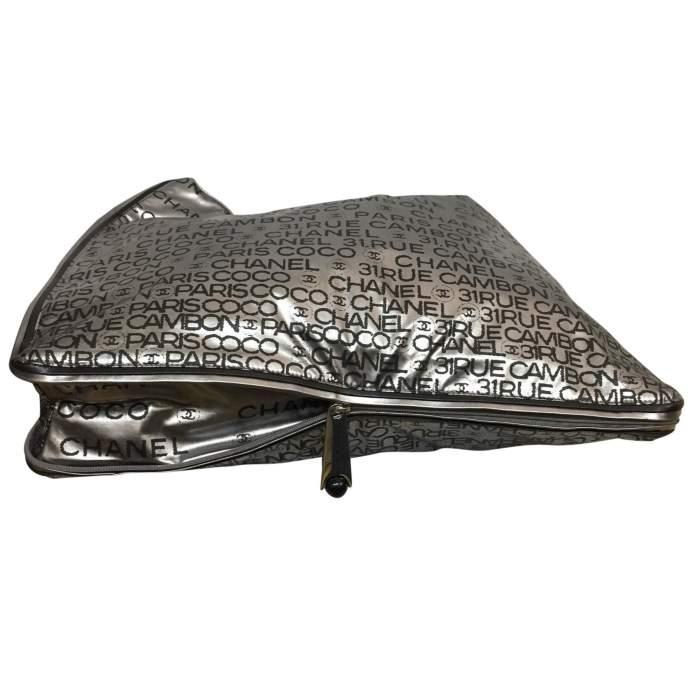 Silver vinyl tote Bag-6