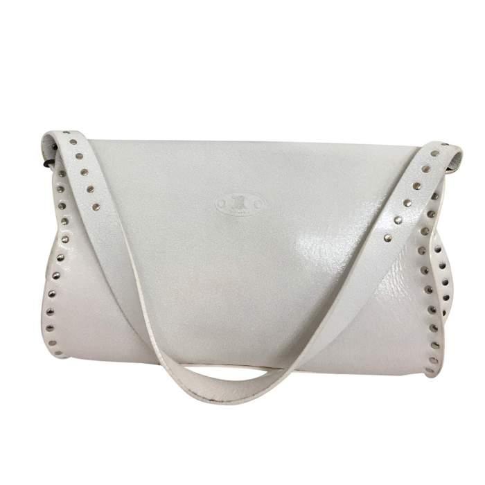 White leather shoulder Bag-2