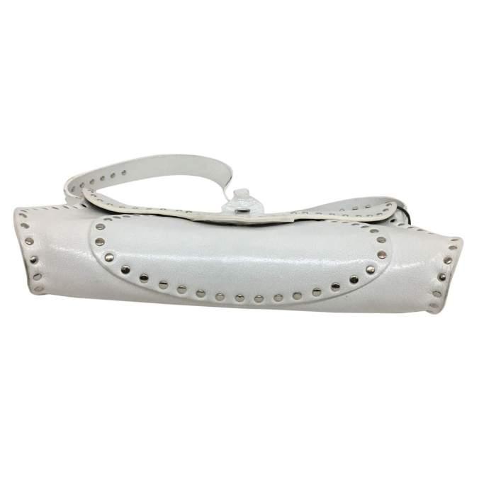 White leather shoulder Bag-6
