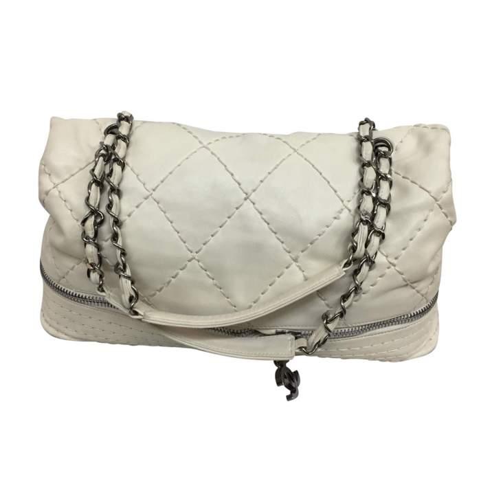 White and silver metal Handbag-2