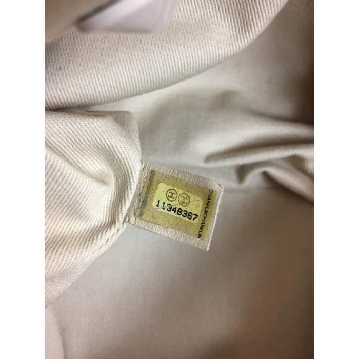 White and silver metal Handbag-6
