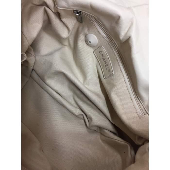 White and silver metal Handbag-8