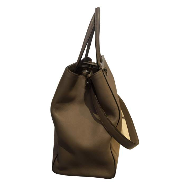 """Always"" taupe leather Handbag-6"