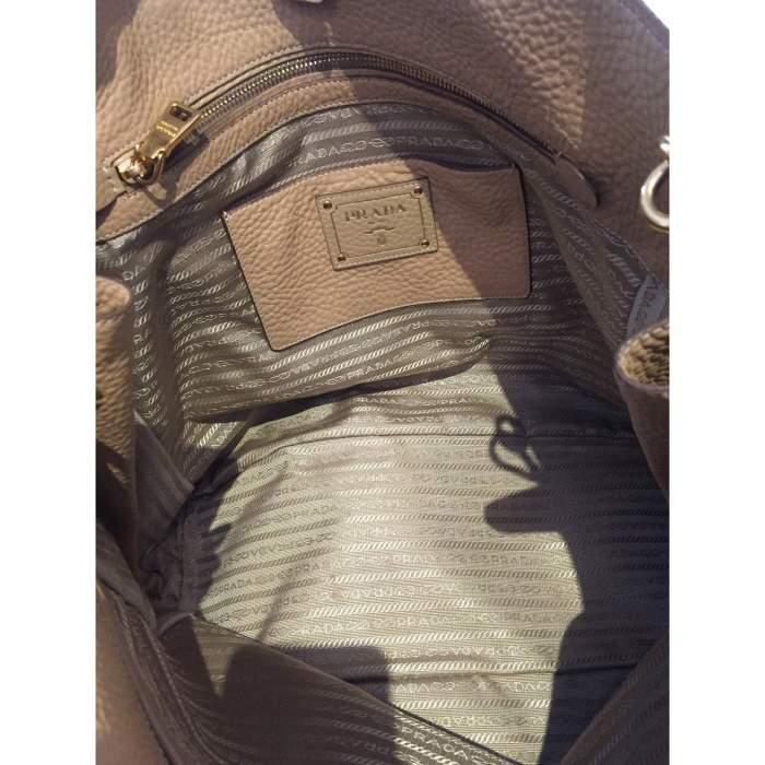 Beige Vitello Daino Expandable Shopper Bag-10