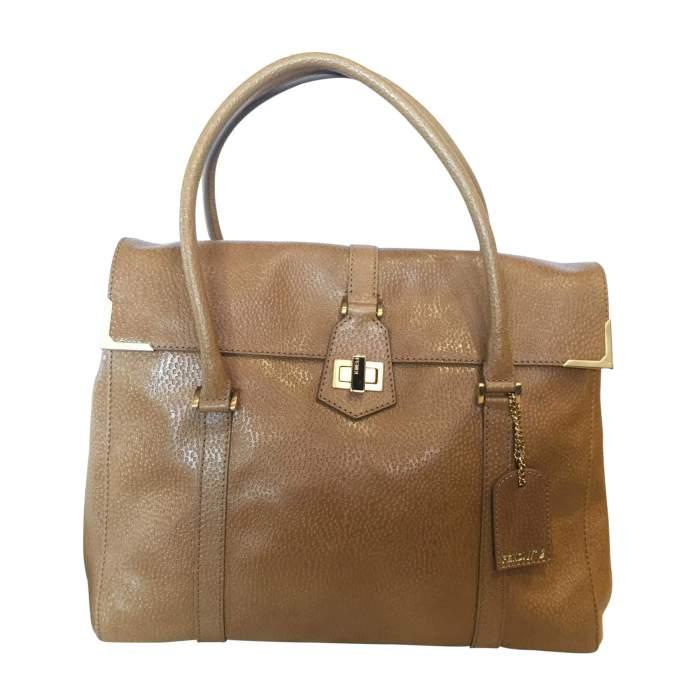 Gold hammered leather Handbag-0