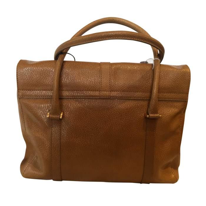 Gold hammered leather Handbag-2