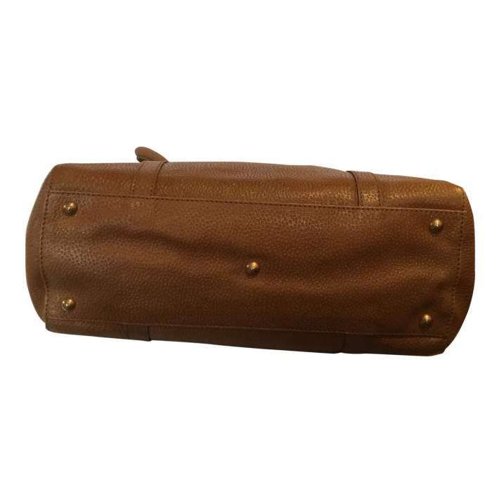Gold hammered leather Handbag-8