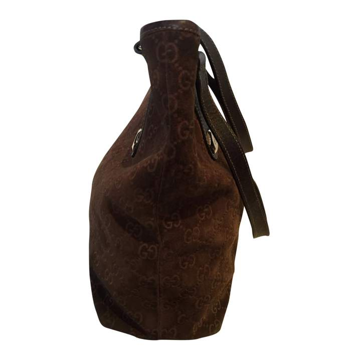 Brown monogram suede Bag-6