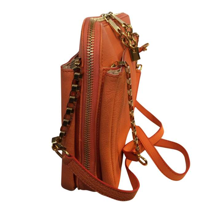 Orange grained leather Bag-6