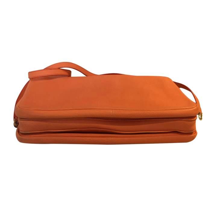 Orange grained leather Bag-8