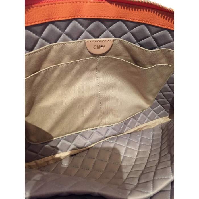 Orange grained leather Bag-10