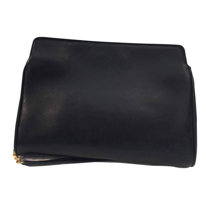 Black leather Handbag-2